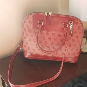 Dooney and bourke large signature tote xbody strap